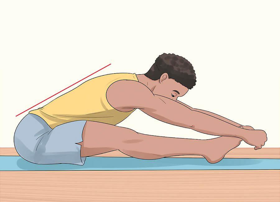درمان گودی کمر - کشش عضلات پشتی کمر و پا