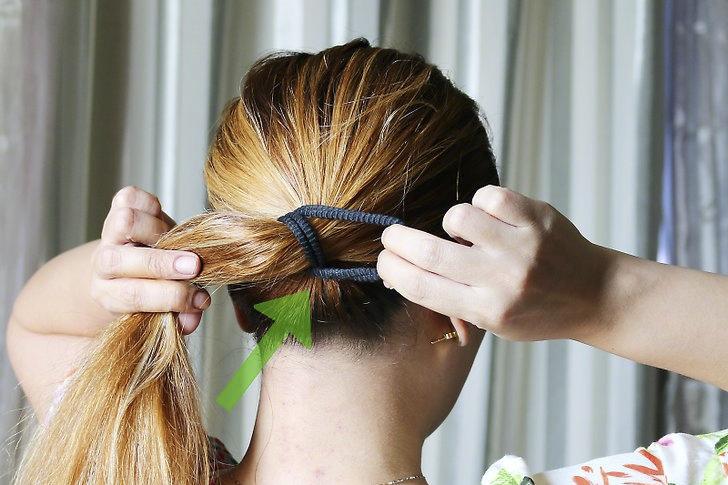 بستن موها با کش