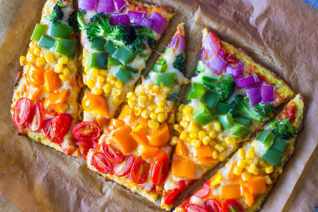 پیتزا رژیمی سبزی جات